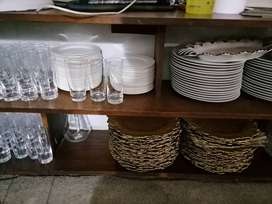 Decorations, plates, glasses, under plate, plates