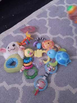 Full bag of baby toys in excellent condition
