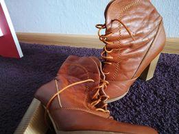Обувь на девушку, размер 37-38, натуральный замш и кожа