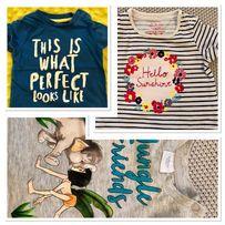 Koszulki letnie niemowlęce 3 sztuki r.62/68 wyprawka h&m f&f Disney