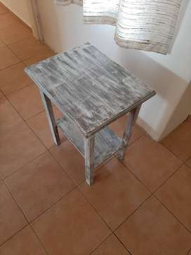 solid wooden white shabby chic table