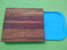 Wooden Board with tray