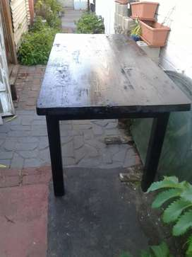 wooden table solid