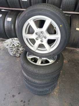 A set of poIo TSI new tyres and rims size 15 for  sale