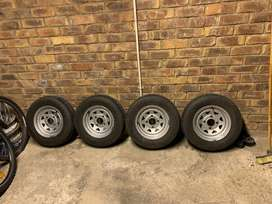 """Nissan 1400 12"""" Rims and tyres EXCELLENT CONDITION"""