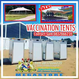 Vaccination Frame Stretch Peg and Pole Marquee Tents Mobile Vip Toilet