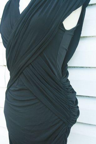 czarna elegancka dopasowana sexy sukienka french connection Sławno - image 2