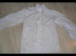 biała bluzka wizytowa krótki kołnierzyk 128