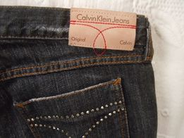 spodnie, CALVIN KLEIN, nowe, jeanse, swarovski, nowe
