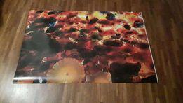 plakat kwiaty balony czerwony 61x91 ikea