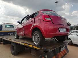 Datsun go 2016 model ready for stripping
