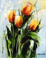 Obraz olejny - 30x24 cm tulipany kwiaty