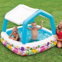 Детский надувной бассейн басейн Intex Аквариум со навесом 157х157х122с