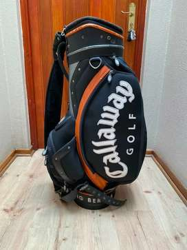 Golf bags and trolley