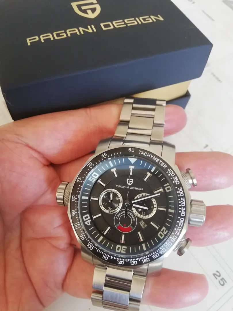 Pagani Design 50mm Mens Quartz Chronograph Watch