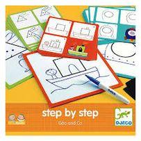 Zestaw do nauki rysowania Eduludo krok po kroku Geo i spółka Djeco 4+