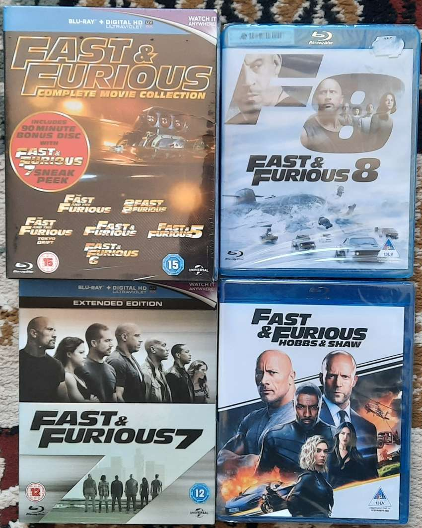 Fast & Furious 1-9 Blu-Ray Collection (Brand New & inc Hobbs & Shaw) 0