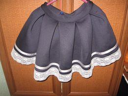 школьная юбка с кружевом/спідничка шкільна