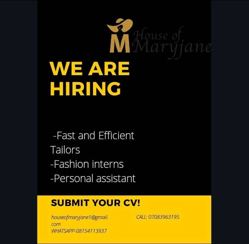 Professional tailors needed urgently 0