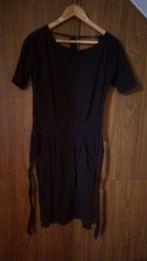 Czarna sukienka suknia bawełniana z kieszeniami r 44