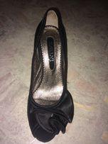Туфли черные атласные