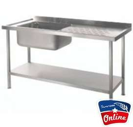 SINGLE BOWL 1.7 STAINLESS STEEL  SINK