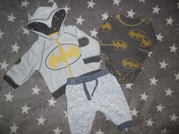 Вещи на мальчика 0-3 месяца Бодик Штаны Кофта Batman
