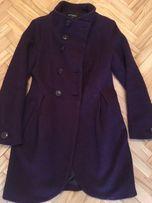 Płaszcz Atmosphere 38 bakłażan fioletowy bukla wełniany elegancki