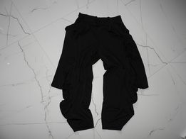 XL kuloty czarne spodnie cullotes bermudy,niski stan