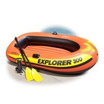 Двухкамерная надувная лодка из ПВХ човен INTEX EXPLORER 300 SET