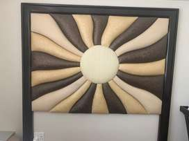 Multi Brown Leather Headboard Queen Size
