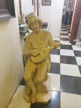 Solid marble one piece statue