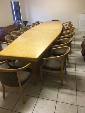 15 seater boardroom table