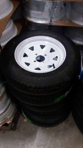 Trailers tyres and rims 13""