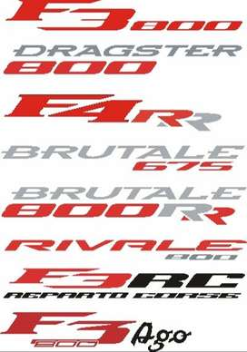 Agusta Brutale graphics vinyl cut decals