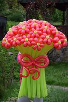 Букет, цветы из воздушных шаров (Букети з повітряних кульок)