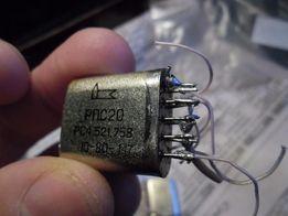 Реле РПС-20 типы РС4.521.758 (на 5 В) и РС4.521.751 (на 6 В)