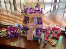 My Little Pony Castle with ponies.