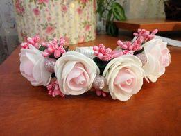 Цветочная повязка ободок на голову для девочки
