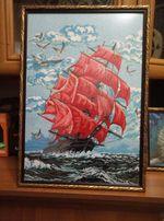 Картина вышитая (Корабль)