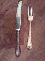 Ножи и вилки , столовые ложки, мельхиор.