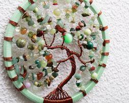 Натуральные камни. Сувенир, подарок Ловец снов. Дерево жизни.