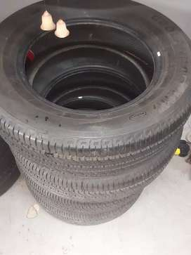 17 inch tyres as new x 4 complete set