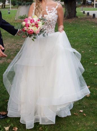 suknia ślubna piękna włoska rozmiar 38 Częstochowa - image 2