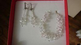 Biżuteria ślubna Swarovski (kolczyki + bransoletka)