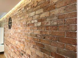 stara cegła rozbiórkowa płytki ceglane lico retro sciana stary mur