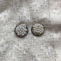 Серьги бижутерия жемчужины сережки перлини