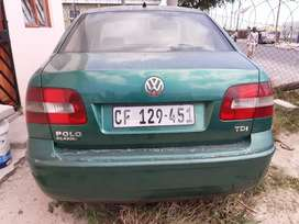 2006 Green vw polo 1.6Tdi.. round lights one