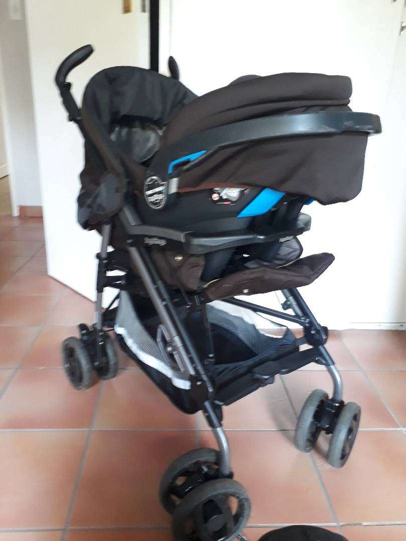 Peg Perego Pram & car Seat (Choc colour) 0