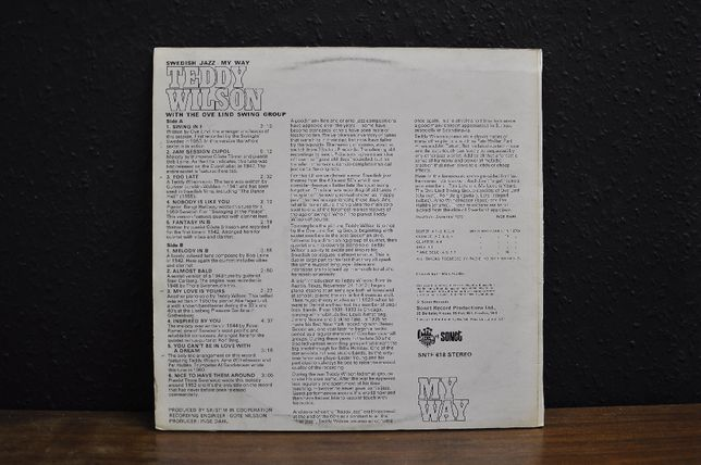 Teddy Wilson & The Ove Lind Swing Group / Winyl JAZZ Strzelce Opolskie - image 2